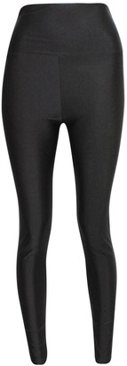 Generic New Ladies Womens Shiny American Disco High Waisted PVC Wet Look Pants Leggings Trousers : Color - Black : Size - S/M