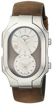 Philip Stein Teslar Men's 200-SBE-CABR Swiss Signature Analog Display Swiss Quartz Brown Watch