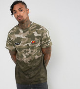 Ellesse T-Shirt With Camo Dip Dye