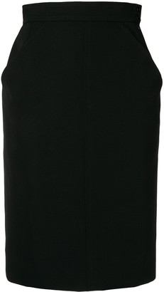 Yves Saint Laurent Pre Owned Tailored Straight Skirt