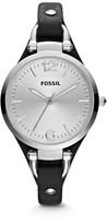 Fossil Georgia Black Leather Watch
