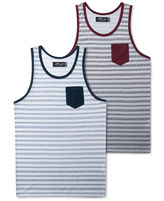Retrofit T-Shirt, Tribal Stripe Print Tank Top