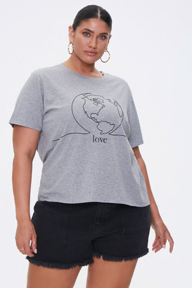 Forever 21 Plus Size American Forests Love Graphic Tee
