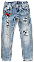 Miss Me Girl Big Girls 7-16 Butterfly-Patch Ankle Skinny Jeans