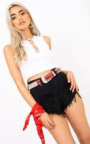 PrettyLittleThing Red Diamante Studded Belt
