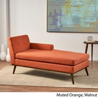 Christopher Knight Home Stormi Mid-Century Modern Tufted Chaise Lounge