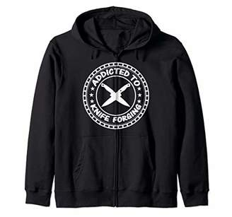 Knife Makers Gift Knives Bladesmith Blacksmith Fire Forged Zip Hoodie