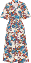 House of Holland Cotton-barkcloth floral-print shirt dress