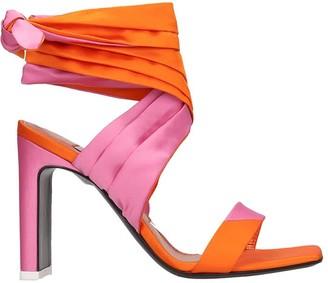 ATTICO The Sandals In Orange Leather