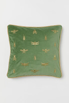 H&M Embroidered cushion cover