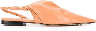Bottega Veneta Point Twist Ballerina Shoes