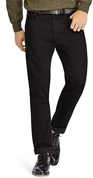 Polo Ralph Lauren Hudson Stretch Varick Slim Straight Fit Jeans in Black