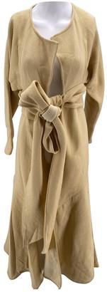 Jacquemus Le Souk Ecru Wool Dresses