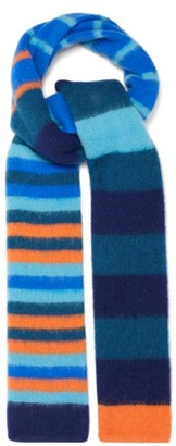 Paul Smith Striped Wool Scarf - Blue Multi