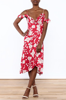 MinkPink Rose Wrap Dress