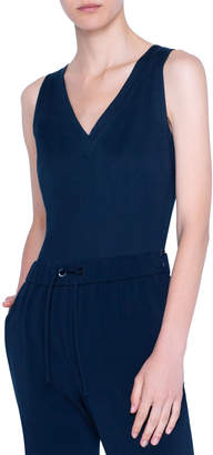 Akris Punto V-Neck Sleeveless Top