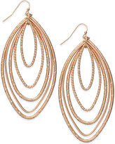 Thalia Sodi Rose Gold-Tone Multi-Layer Marquise Drop Earrings, Only at Macy's