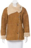 Vince Fur-Lined Suede Coat