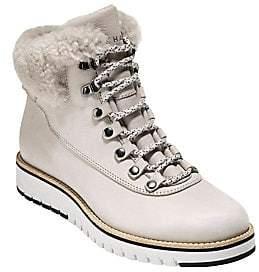 Cole Haan Women's Grand Explorer Fleece-Trim Leather Winter Boots
