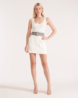 Veronica Beard Bond Soft-Tweed Miniskirt