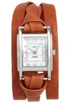 La Mer Women's 'Milwood' Leather Wrap Watch, 35Mm