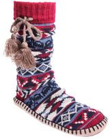 Muk Luks Women's Slipper Sock with Tassel