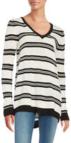 BB Dakota Striped Splitback Sweater