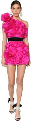 Raisa & Vanessa Ruffled Silk Organza Mini Dress