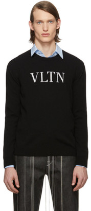 Valentino Black VLTN Crewneck Sweater
