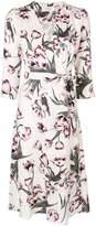 Goat floral wrap dress
