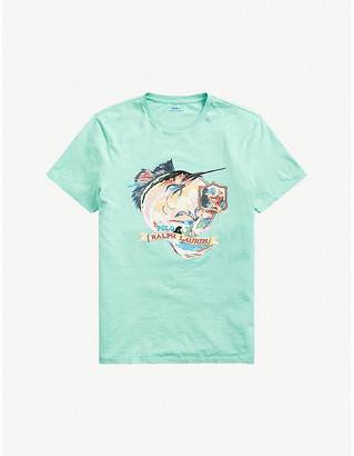 Polo Ralph Lauren Marlin-print cotton-jersey T-shirt