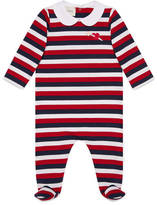 Gucci Baby striped sleepsuit with heart