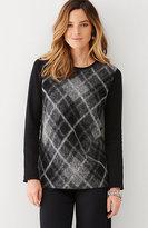 J. Jill Plaid Brushed Sweater