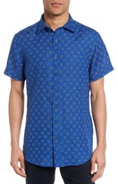 Rodd & Gunn Men's Westerham Regular Fit Print Linen Sport Shirt