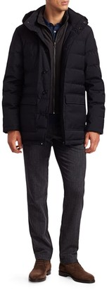 Saks Fifth Avenue COLLECTION Quilted Wool Puffer Coat & Removable Vest