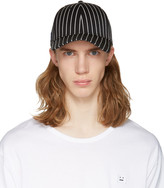 Rag & Bone Black Striped Baseball Cap
