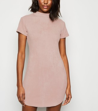 New Look AX Paris Suedette Scoop Hem Mini Dress