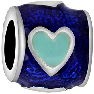 Tuscany Charms Sterling Silver Dark Blue Enamel Bead