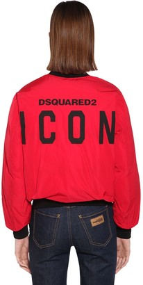 DSQUARED2 BACK LOGO NYLON TAFFETA JACKET