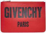 Givenchy - Pochette à logo rouge Medi