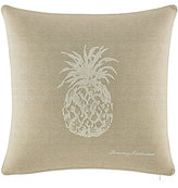 Tommy Bahama Canvas Stripe Pineapple Square Pillow