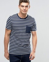 Jack and Jones Striped T-Shirt with Contrast Pocket