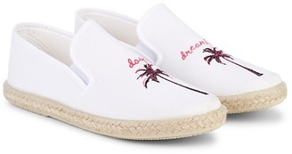 Just Kidding Girl's Day Dreaming Embroidered Espadrilles