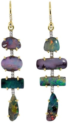 Irene Neuwirth 18kt yellow gold Gemmy Gem drop earrings