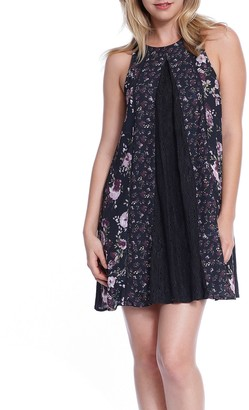 Taylor & Sage Women's Twin Printhi-Neck Sleeveless Dress