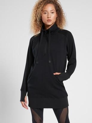 Athleta Cozy Karma 1/4 Zip Dress