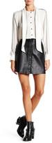 Muu Baa Muubaa Holland Genuine Leather Denim Mini Skirt