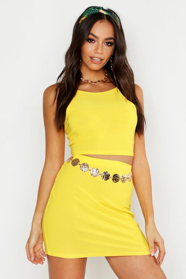 Thumbnail for your product : boohoo Racer Strap Bralet And Mini Skirt Co-ord