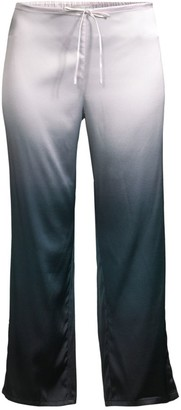 Skin Ombre Silk Blend Cropped Pants