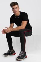 boohoo Mens Grey Skinny Jeans With Stripe Side Tape, Grey